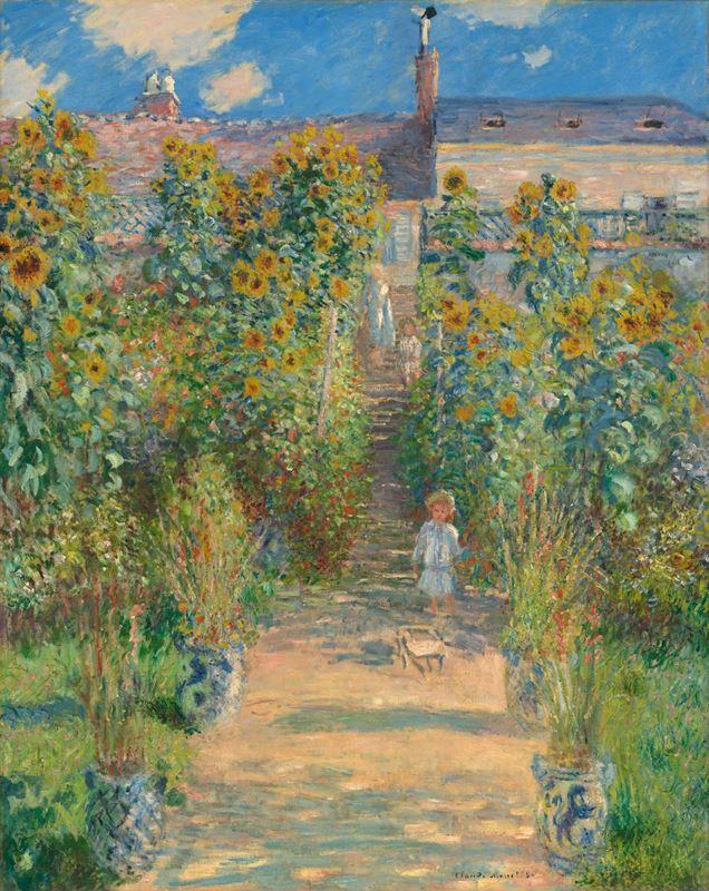 Vétheuil'de Monet'nin Bahçesi, 1880 resmi