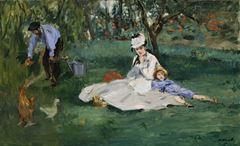 Monet Ailesi Argenteuil'deki Bahçelerinde, 1874, Tuval üzerine yağlıboya, 61 x 99.7 cm, The Metropolitan Museum of Art, New York, ABD.