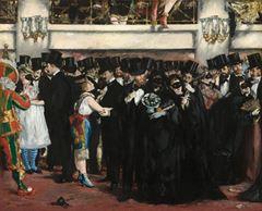 Opera'da Maskeli Balo, 1873, Tuval üzerine yağlıboya, 59.1 x 72.5 cm, National Gallery of Art, Washington ABD.
