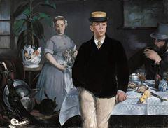 Öğle Yemeği, 1868, Tuval üzerine yağlıboya, 118.3 x 154 cm, Neue Pinakothek, Munich, Almanya.