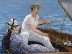 Teknede, 1874, Tuval üzerine yağlıboya, 97.2 x 130.2 cm, The Metropolitan Museum of Art, New York, ABD.