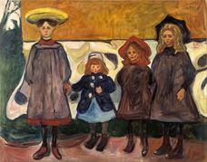 Asgardstrand'da Dört Kız, 1903