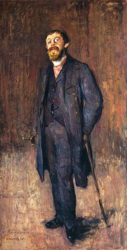 Ressam Karl Jensen Hjell'in Portresi, 1885 resmi