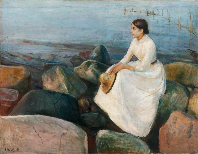 Yaz Gecesi / Inger Sahilde, 1889 resmi