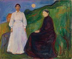 Anne ve Kızı, 1897-1899, Tuval üzerine yağlıboya, 135 x 163 cm, Nasjonalgalleriet, Oslo, Norveç.