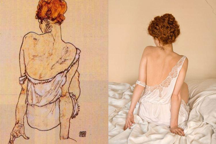 Arkası Dönük Oturan Kadın, Egon Schiele, 1913 picture