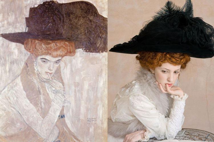 Siyah Tüylü Şapka, Gustav Klimt, 1910 picture