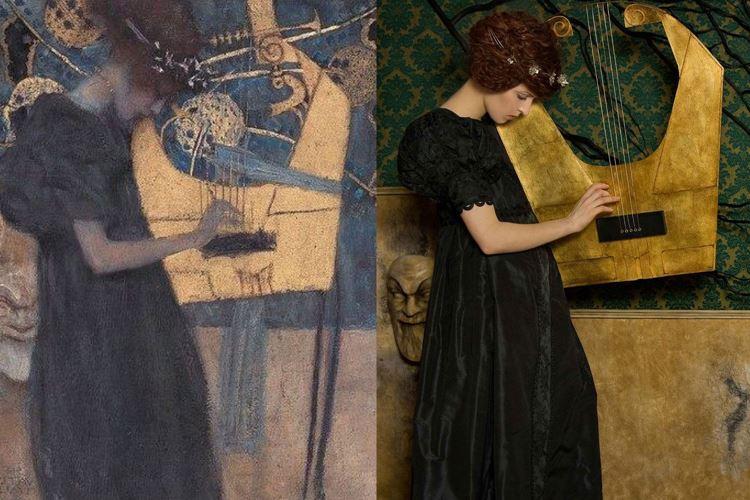 Müzik I, Gustav Klimt, 1895 picture