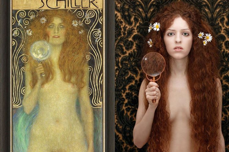 Çıplak Veritas, Gustav Klimt, 1899 picture