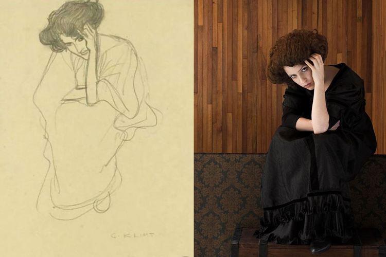 Oturmuş Kadın, Gustav Klimt, 1901 picture