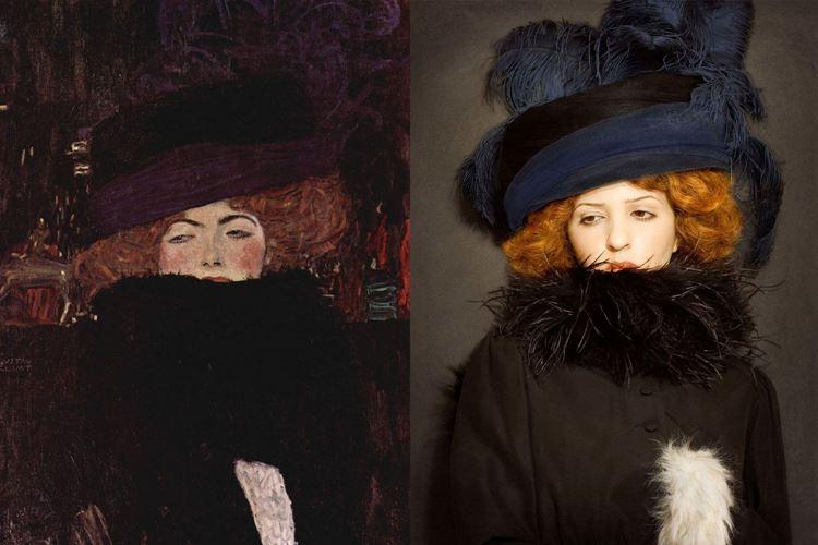 Kürklü ve Şapkalı Kadın, Gustav Klimt, 1909 picture