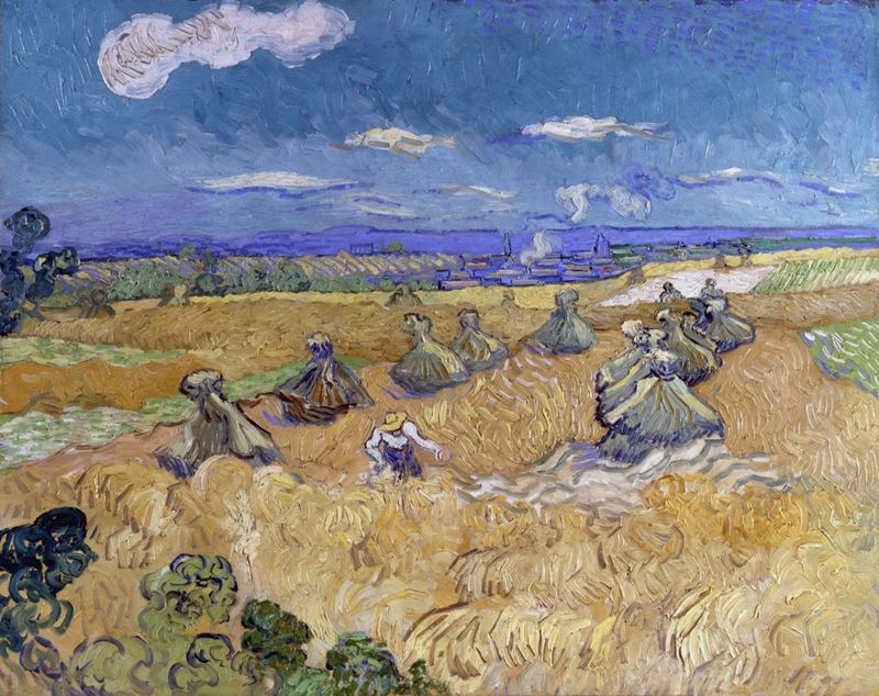 Picture for Wheat Fields with Reaper, 1890