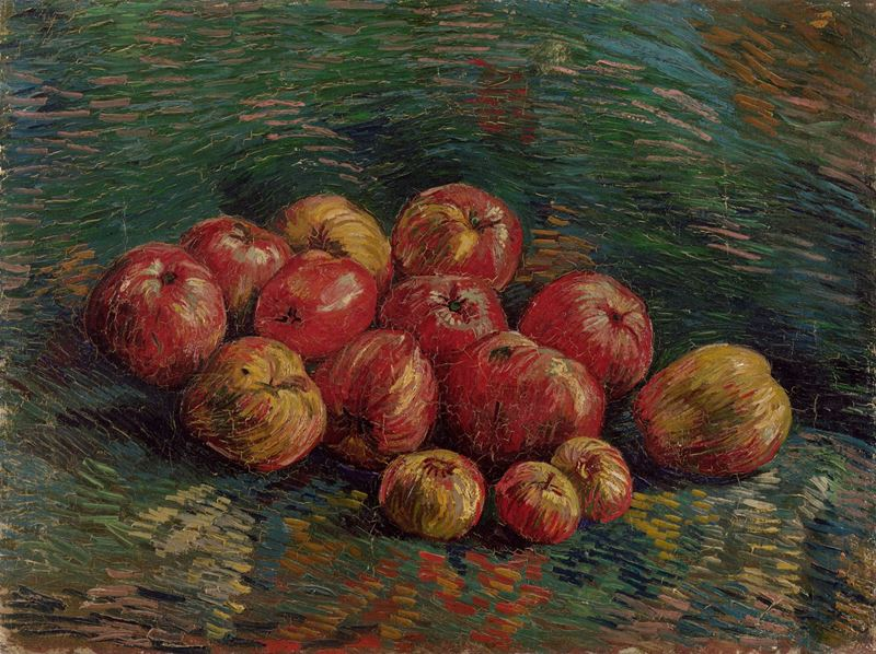 Elmalar, 1887 resmi