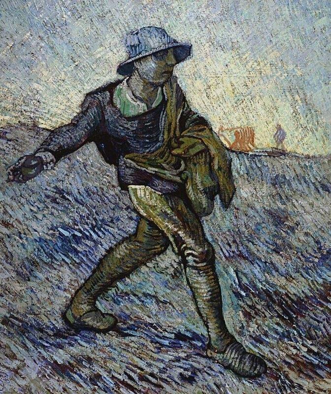Tohum Serpen Adam (Millet'den esinle), 1890 resmi
