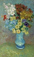 Show Flowers in a Blue Vase, c.1888 details
