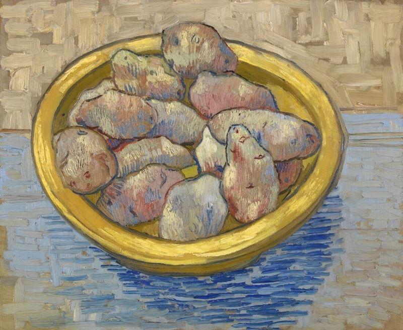 Patatesli Natürmort, 1889 resmi