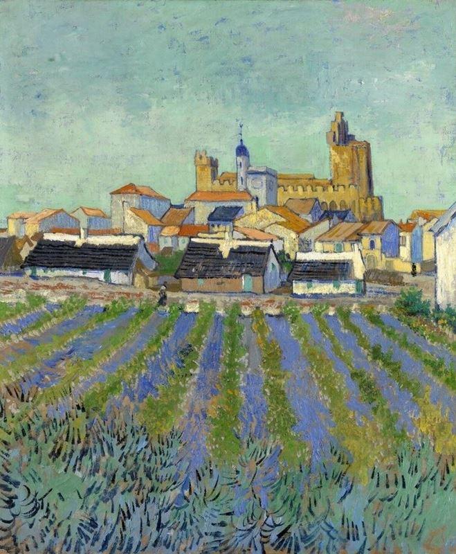 Görünüm Saintes-Maries, 1888 resmi