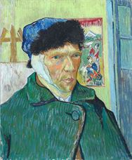 Show Self-Portrait with Bandaged Ear, 1889 details
