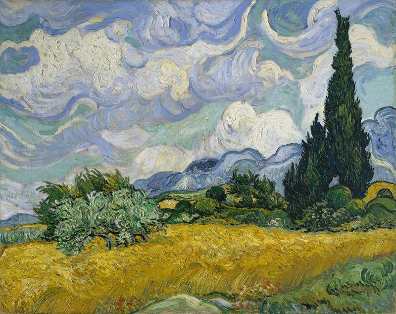 Selvili Buğday Tarlası, 1889 resmi