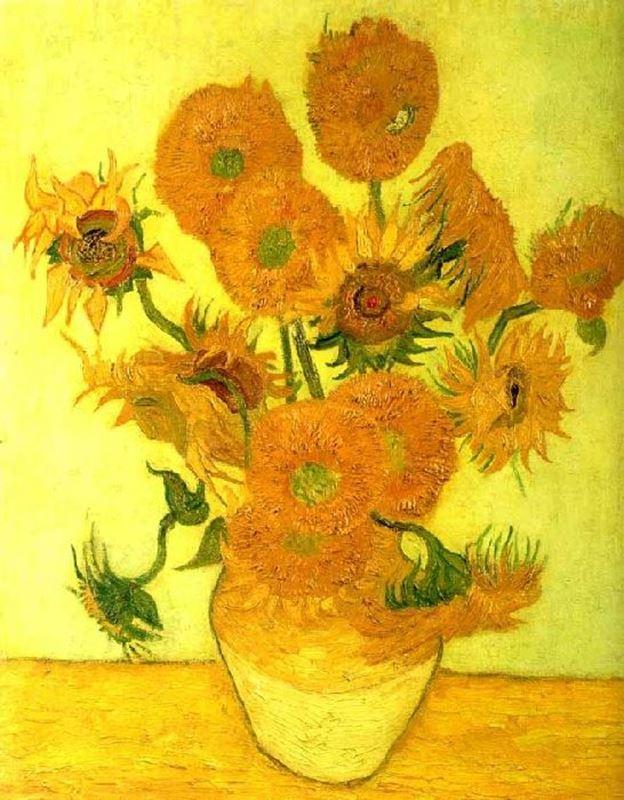 Ayçiçekleri, 1888 resmi