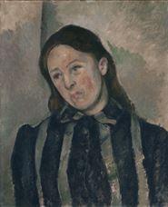 Show Portrait of Madame Cézanne, 1890-1892 details
