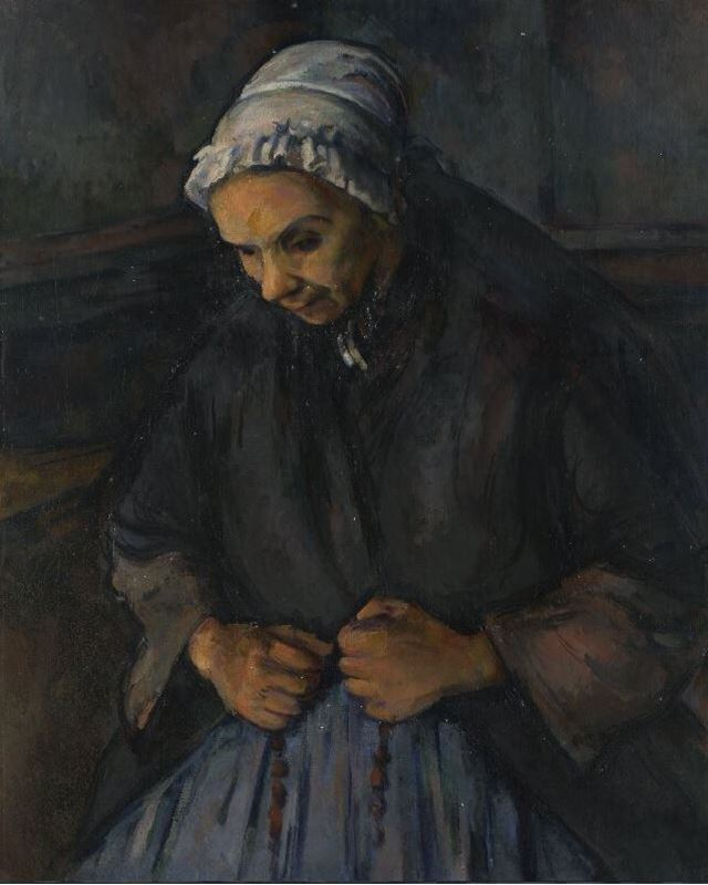 Tespihli Yaşlı Kadın, 1895-1896 dolayları resmi