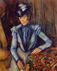 Show Lady in Blue, c. 1904 details