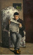 L'Evenement Okuyan Louis-August Cézanne'ın Portresi, 1866