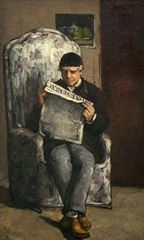 L'Evenement Okuyan Louis-August Cézanne'ın Portresi, 1866, Tuval üzerine yağlıboya, 198.5 x 119.3 cm, National Gallery of Art, Washington, ABD.