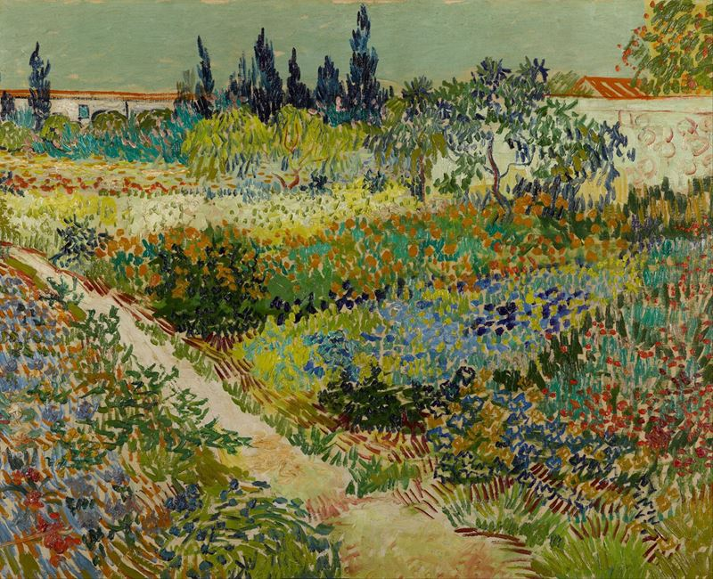 Arles'da Bahçe, 1888 resmi