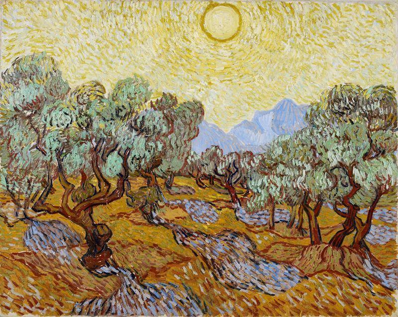 Zeytin Ağaçları, 1889 resmi