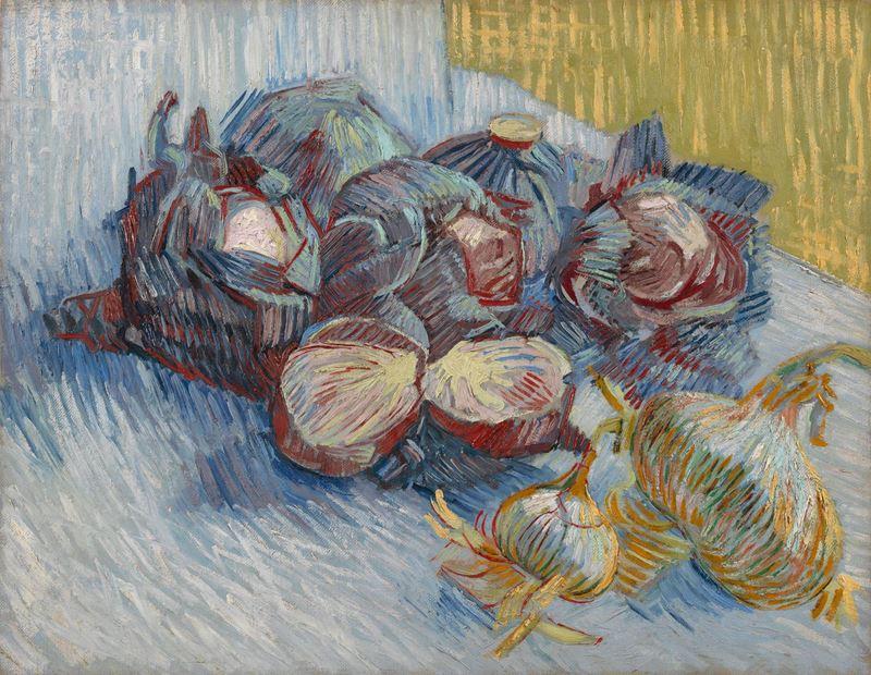 Kırmızı Lahanalı ve Soğanlı Natürmort, 1887 resmi