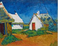 Show White Cottages at Saintes-Maries, 1888 details