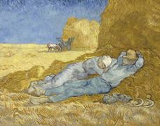 Show The Siesta (after Millet), 1890 details