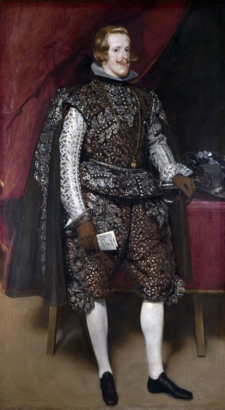 Gümüş ve Kahverengi Giysisiyle Kral IV. Felipe, 1631-1632 dolayları resmi