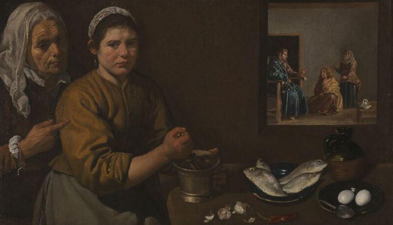 Marta ve Meryem'in Evinde İsa, 1618 dolayları resmi