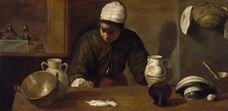 Show Kitchen Maid with the Supper at Emmaus, c. 1617-1618 details