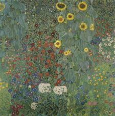 Show Farm Garden with Sunflowers, 1905-1906 details