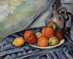 Masada Meyve ve Sürahi, 1890-1894, Tuval üzerine yağlıboya, 32.4 x 40.6 cm, Museum of Fine Arts, Boston, ABD.