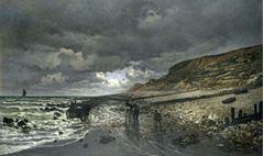La Hève Burnu'nda Deniz Çekilmesi, 1865, Tuval üzerine yağlıboya, 90.2 x 150.5 cm, Kimbell Art Museum, Texsas, ABD.