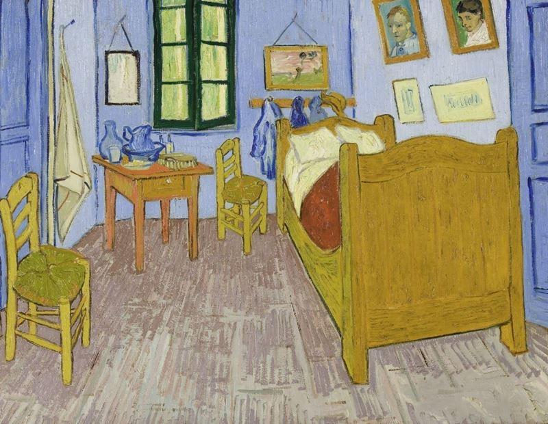 Van Gogh'un Arles'teki Yatak Odası, 1889, Tuval üzerine yağlıboya, 57.3 x 74 cm, Musée d'Orsay, Paris, Fransa.