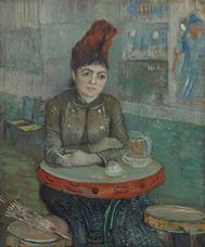 Agostina Segatori Cafe Tambourin'de Otururken, 1887