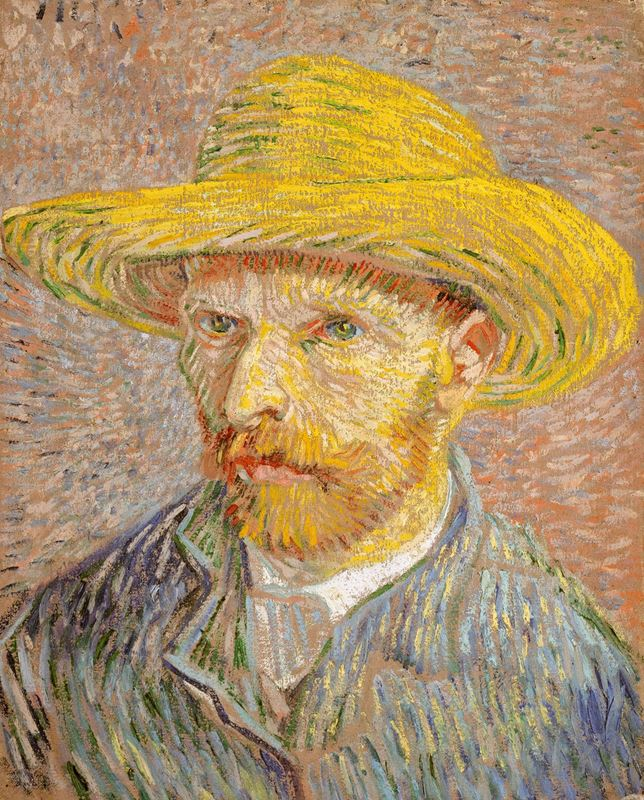 Picture for Self-Portrait with Straw Hat, 1887