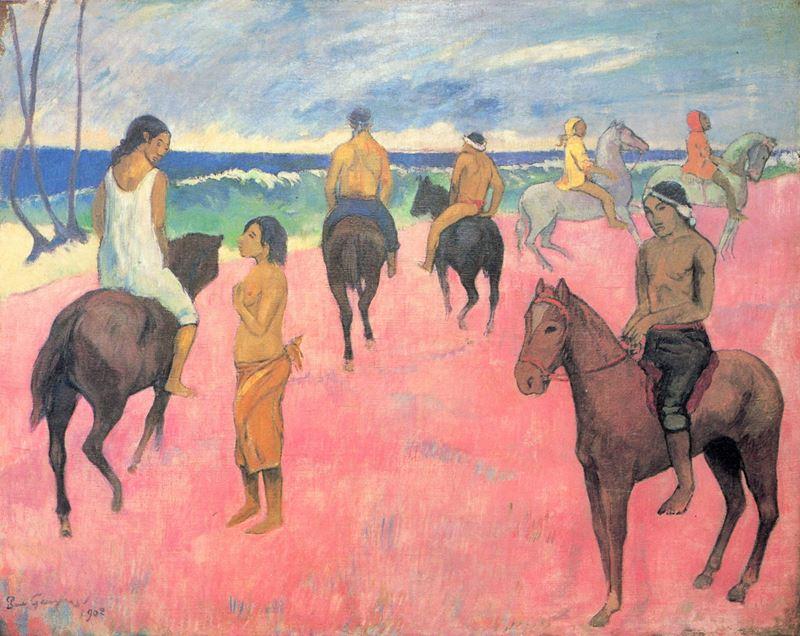 Kıyıda Atlılar, 1902 resmi