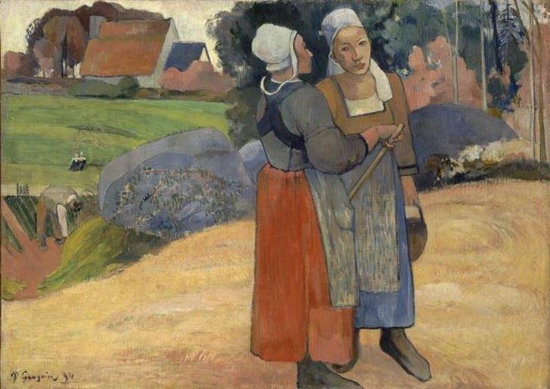 Breton Köylü Kadınlar, 1894 resmi