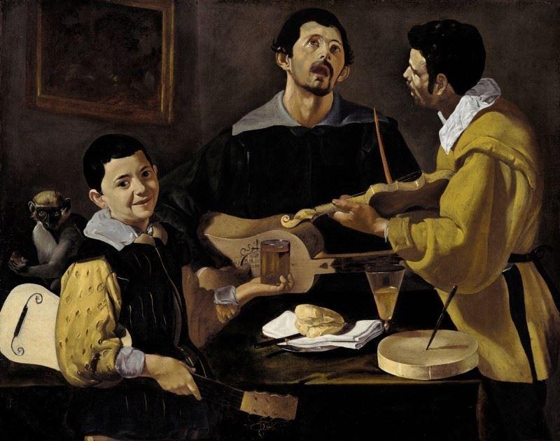 Üç Müzisyen, 1616-1618 resmi
