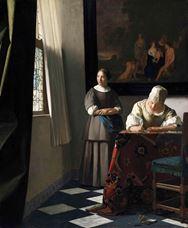 Hizmetçisi ile Mektup Yazan Kadın, 1670 dolayları