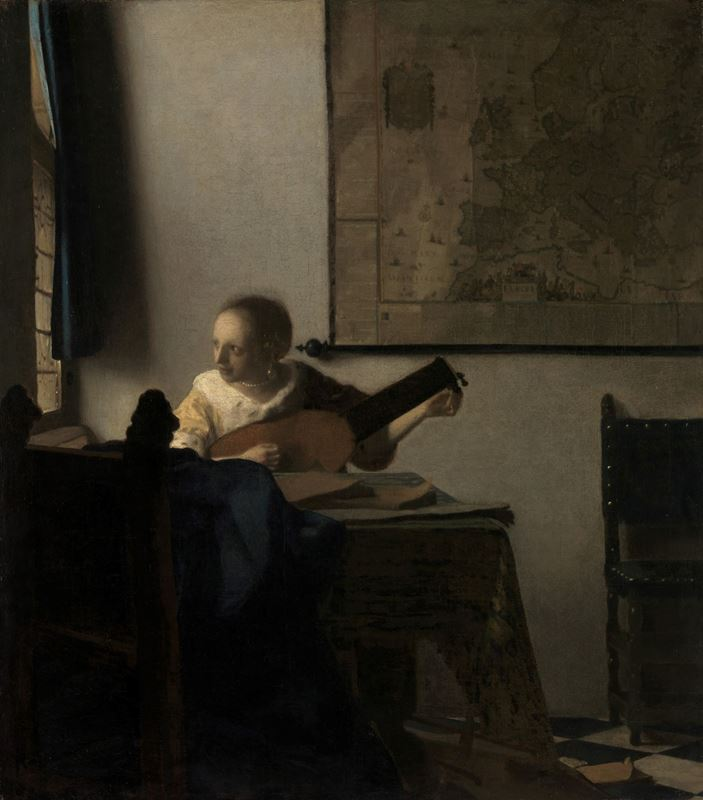 Picture for Woman with a Lute, c. 1662-1663