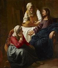 Show Christ in the House of Martha and Mary, c. 1654-1656 details