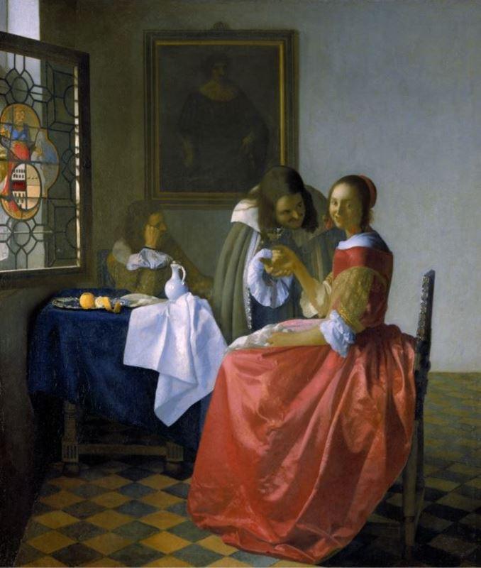 Şarap Bardaklı Kız, 1659-1660 resmi